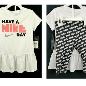 "Toddler Girl ""Have a Nike Day"" Tunic/Leggings 3T"